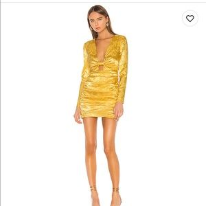 Camila Coelho yellow mini dress